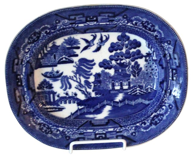 Late-19th-C. Wedgwood Willow Platter
