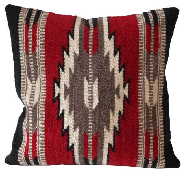 Red & Black  Navajo   Geometric Pillow