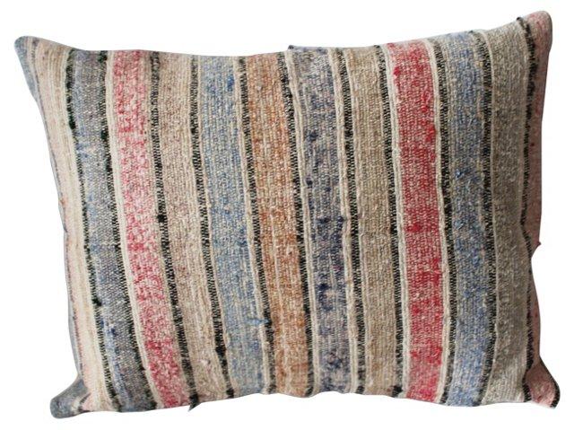 Striped   Rag    Rug    Pillow