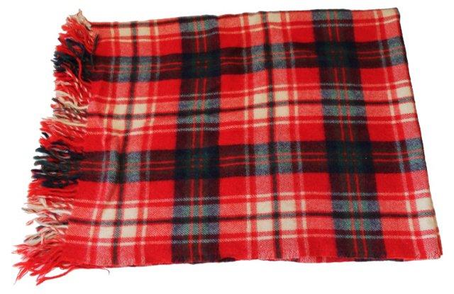 Plaid Blanket w/ Fringe