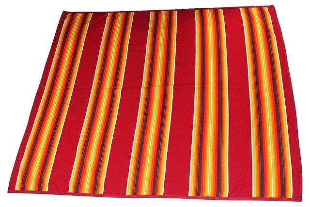 Red-Stripe  Pendleton Blanket