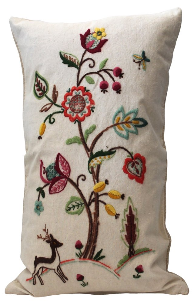 Hand-Embrodered Pillow