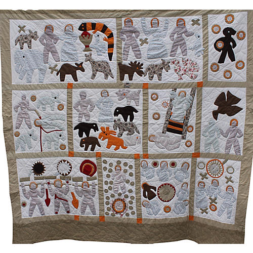 Folk Art Appliqué Quilt