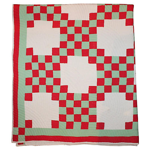 Red & Green Christmas Quilt