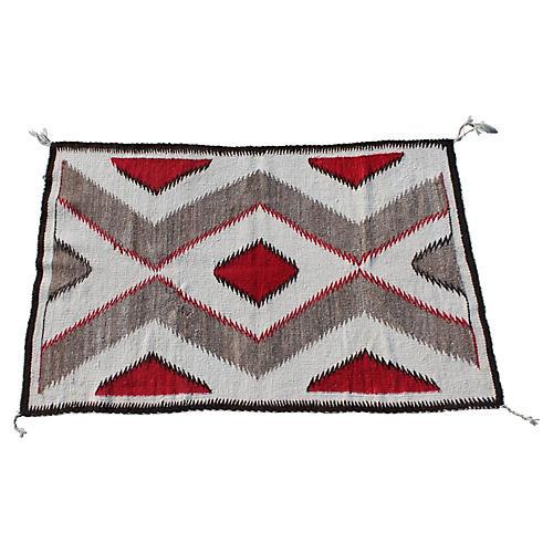 "Geometric Navajo-Style Rug, 3'4"" x 5'1"""