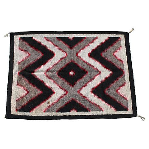 "Navajo-Style Rug, 3'2"" x 4'3"""