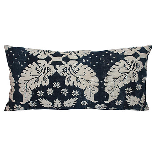 Blue and White Wool Patterned Pillows