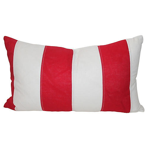 American Striped Lumbar Pillow