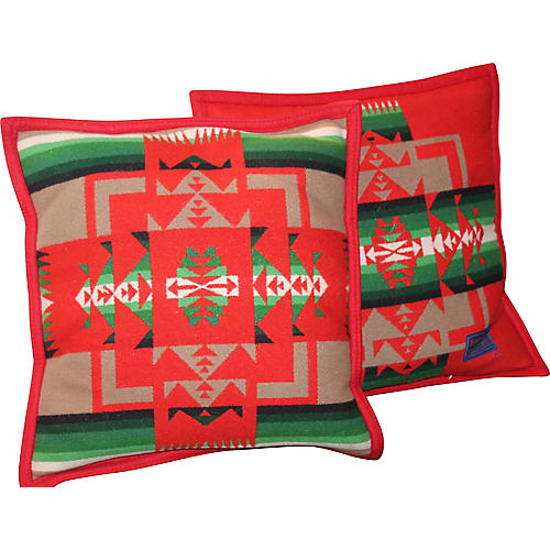Pendleton Blanket Pillows, Pair