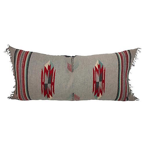 Large Gray Cat Eye Bolster Pillow