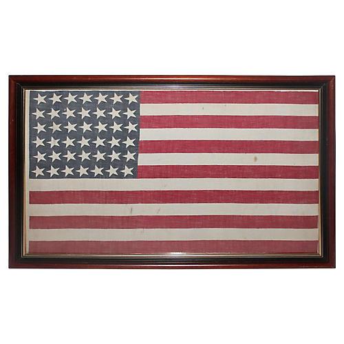 42-Star American Parade Flag, 1886