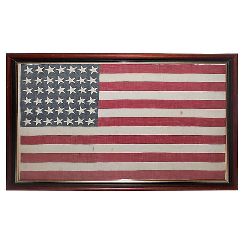 42-Star American Parade Flag, 1886