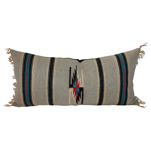 Mexican Serape Pillow w/Fringe