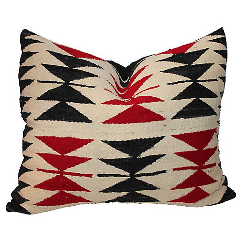 Flying Geese Navajo-Style Weaving Pillow