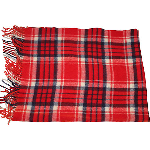 Red & Black Plaid Blanket