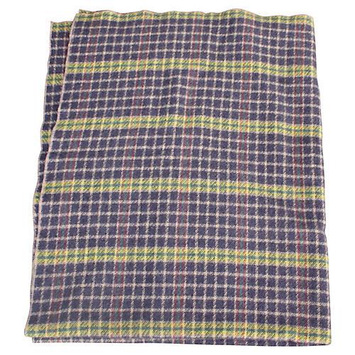 Yellow & Purple Plaid Blanket