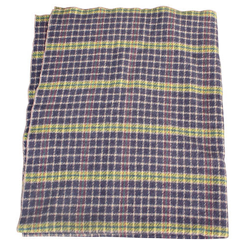 Yellow & Purple Plaid Blanket