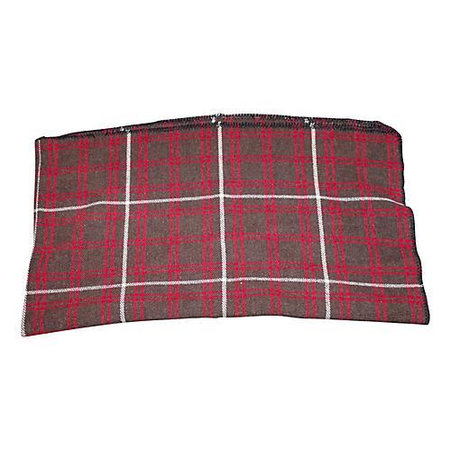 Red & Gray Plaid Blanket