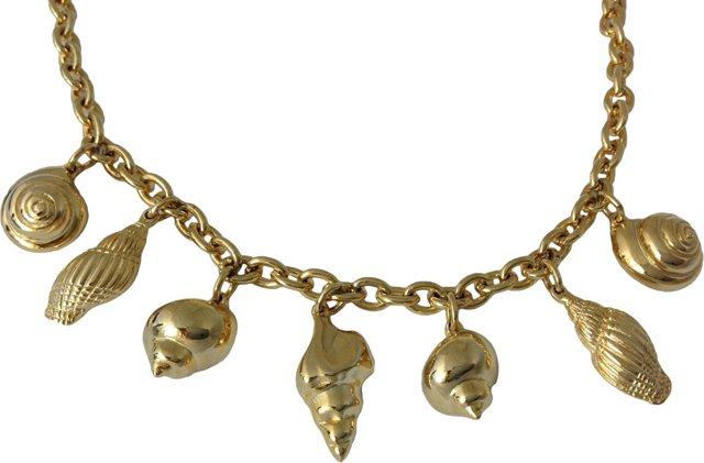 Goldtone Shell-Motif Necklace