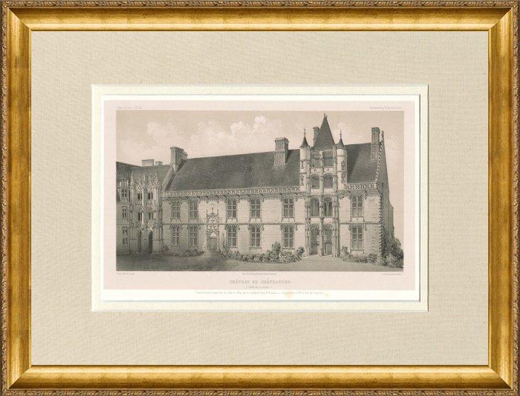 Château de Châteaudun,   1861