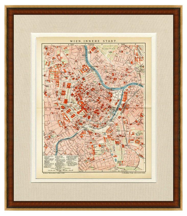 1890s Map of Vienna