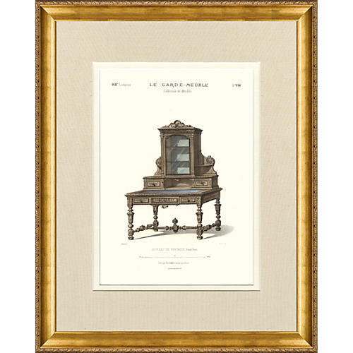 Parisian Furniture Engraving, C. 1850