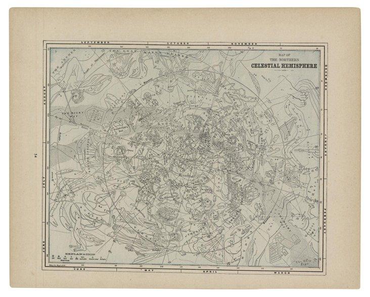 1890s Celestial Print