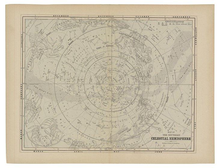 Southern Celestial Hemisphere Print