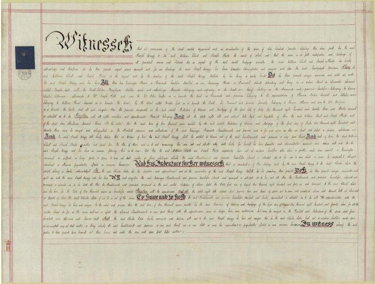 19th-C.  Indenture Document
