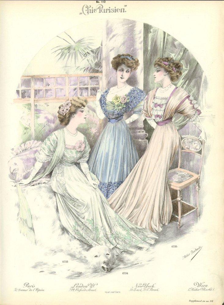 Chic Parisien Fashion  Print, 1912