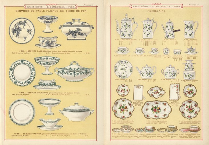 Tableware  Prints,  C.1890, Pair