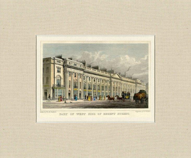 Regent Street, London, 1828