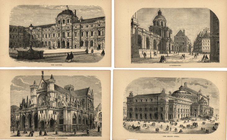 Street  Scenes in Paris, 1867, S/4