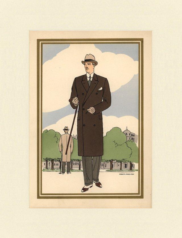 1920s Men's Fashion   Print