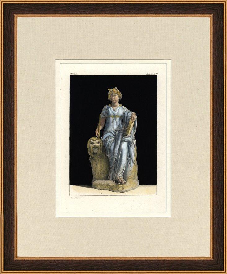 Antique Roman     Statue Print, 1802