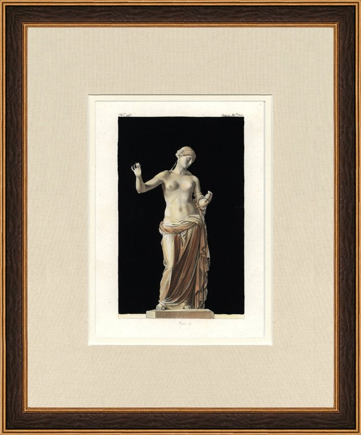 Antique  Roman Statue Print, 1802