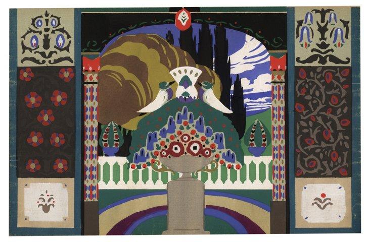1920s Paris  Pochoir Design