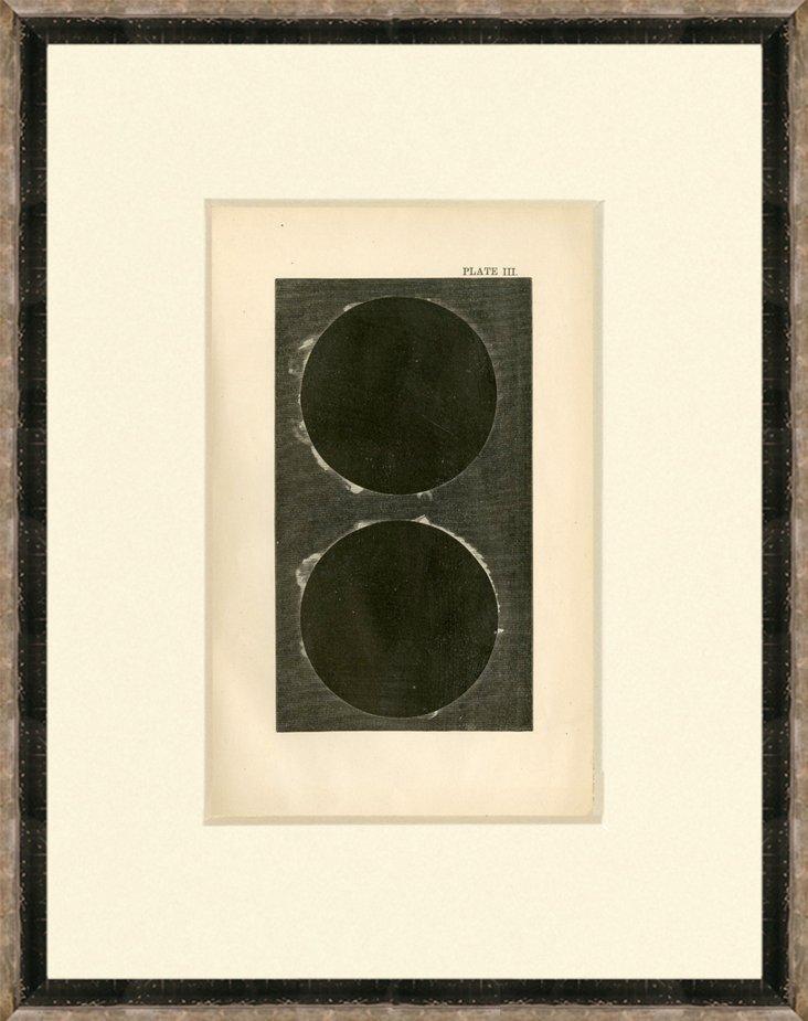Solar Eclipse Print, 1868