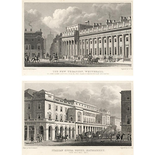 Views of London Prints XI, Pair, 1828
