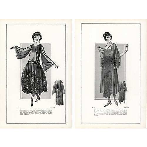 Haute Couture Fashion Prints, 1922, Pr