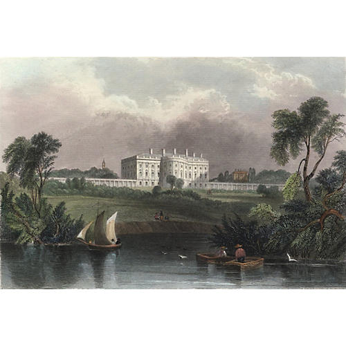 Scene of the White House, 1840