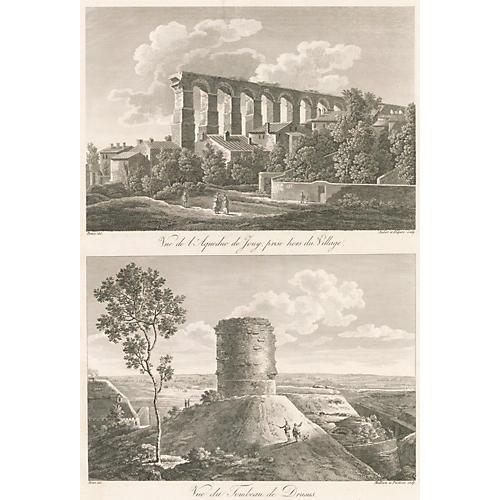 Aqueduct & the Drususstein, 1820