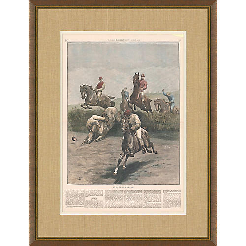 Harper's Weekly Print Horse Race 1881