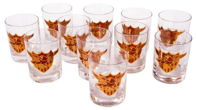 Eagle Crest Glasses, Set of 11
