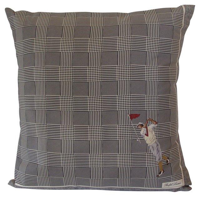 Pillow w/ Ralph Lauren Silk Scarf