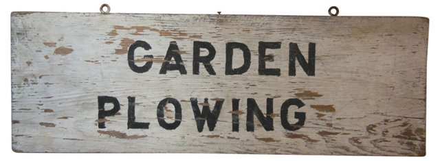 Antique Farm Stand Sign