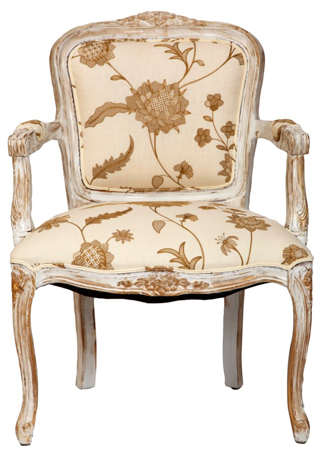 French Floral Armchair