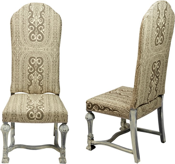 English Parsons Side Chairs, Pair