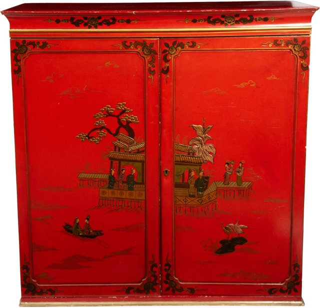19th-C. Chinoiserie Cabinet
