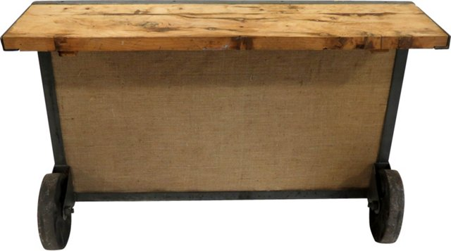 Industrial Wood Console